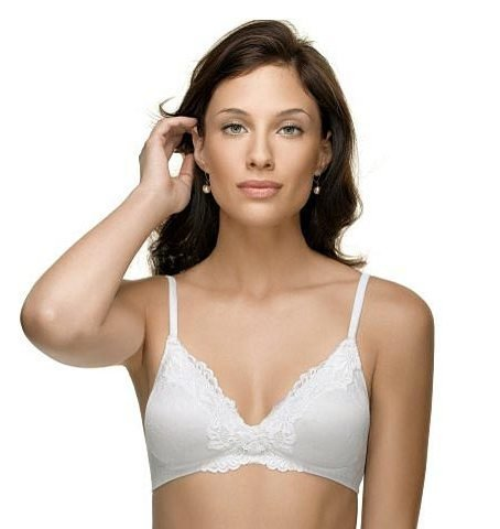 A0037 WARNER'S VINTAGE TOUCH WHITE WIRE-FREE BRA 2010 SIZE 34A