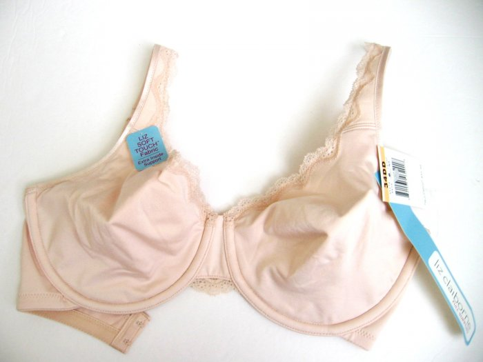 A0435 LIZ CLAIBORNE FULL SUPPOTT SOFT TOUCH BRA 8419 NATURAL SIZE 40DD