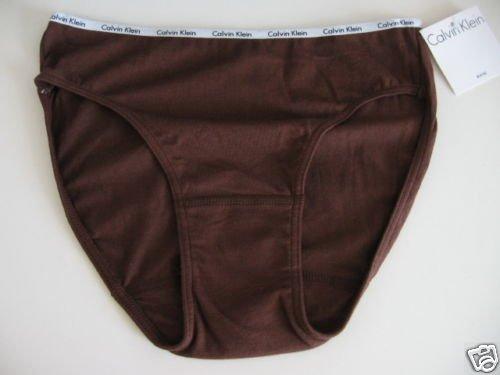 A0438 Calvin Klein Logo Cotton Bikini D1252D BROWN MEDIUM NEW