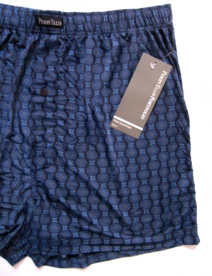 A0452 PERRY ELLIS PURE ESSENTIALS LUXURY BOXER 163888 NAVY MEDIUM