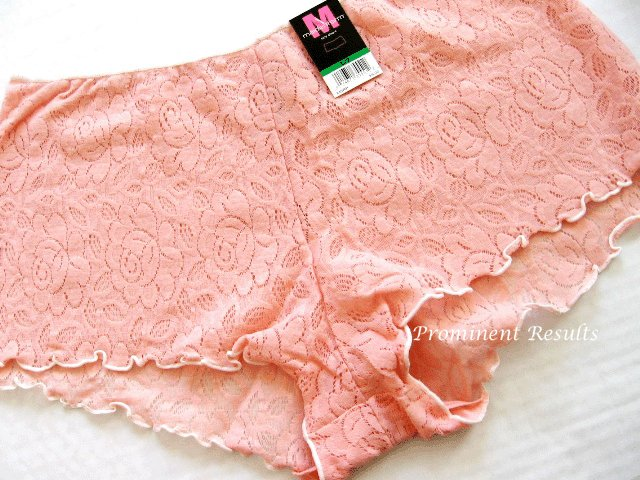 X348 Maidenform Hip Fit Floral Lace Boyshort 40770 SALMON SIZE LARGE