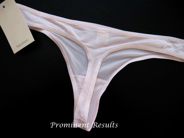 A089T Vera Wang White Label Cherry Blossom Thin MF Thong 22057 Pink  SIZE = SMALL