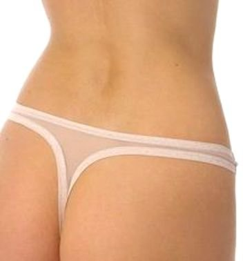 A232T NATORI White Label Soft Sheer Mesh Thong 150005D PEARL SIZE = MEDIUM