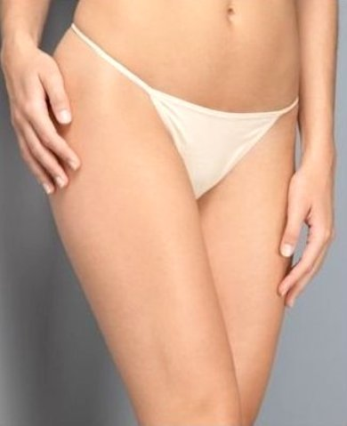 A0047 DKNY Soft Cotton/Lycra Low-Rise Thong 445190 WHITE SIZE SMALL