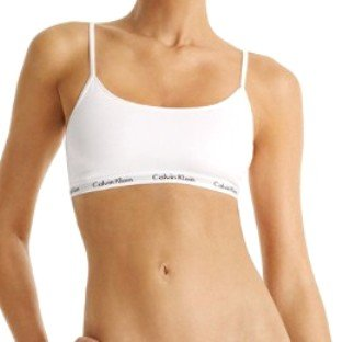 A0448 CALVIN KLEIN 365 MICRO STRETCH RETRO BRA D2923 WHITE SIZE = MEDIUM (34B)