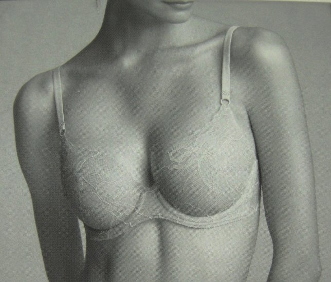 A370 CALVIN KLEIN LACE NAKED BOND UNDERWIRE BRA F2853 DUNEE SIZE = 36A