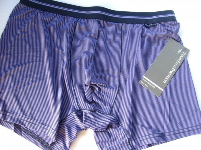 A0141 PERRY ELLIS MEN'S LUXURY BOXER BRIEF 163875 IRIS SIZE = MEDIUM