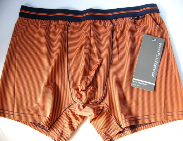 A0141 PERRY ELLIS MEN'S LUXURY BOXER BRIEF 163875 ORANGE SIZE = EXTRA LARGE