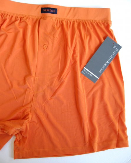 A0137 Perry Ellis Portfolio Techno Stretch Boxer 163000 ORANGE SIZE =  LARGE