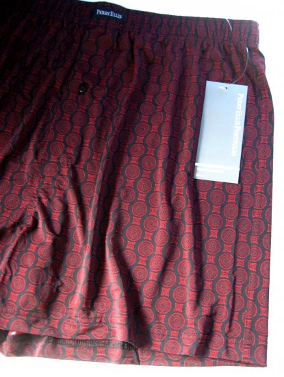 A0452 PERRY ELLIS ESSENTIALS LUXURY BOXER 163888 BURGUNDY SIZE = LARGE