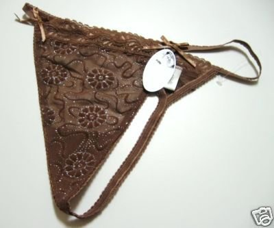 A0333 NEXT GENERATION GLOW FLORAL MESH G-STRING COCOA 10