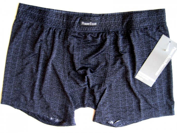 A0183 PERRY ELLIS MEN'S LUXURY BOXER BRIEF 161002 BLACK SIZE = EXTRA LARGE