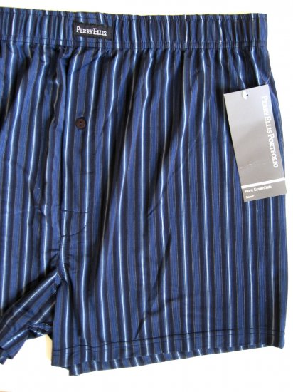 A0296 PERRY ELLIS ESSENTIALS LUXURY BOXER 163889 BLUE SIZE =  LARGE