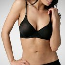A0193 DEREON by Beyonce SEMI-SHEER SOLID POY BRA BLACK SIZE = 36B