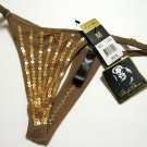 A0020 Marilyn Monroe Intimates Sequins Accent Mesh Microfiber Thong MM6754T Copper SIZE LARGE