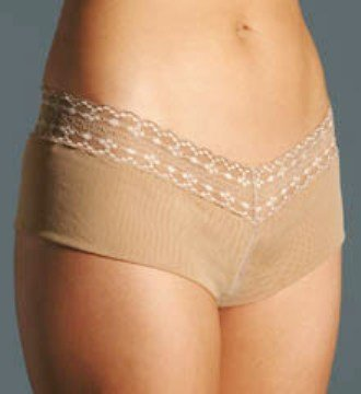 A0509 CALVIN KLEIN NUDE MESH MODERN HIPSTER WITH LACE D3173, SIZE MEDIUM