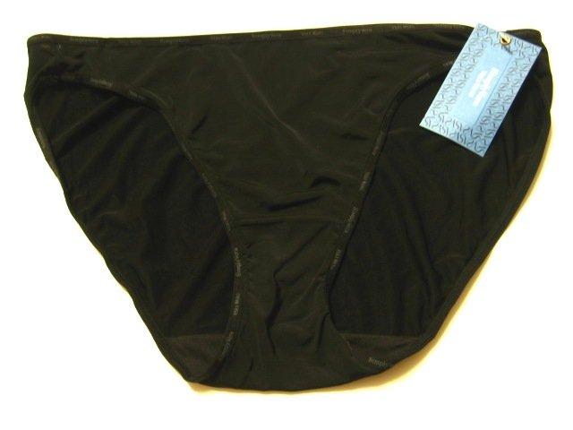 A148SB Simply Vera Wang Logo MF String Bikini 23101 BLACK EXTRA LARGE (8)