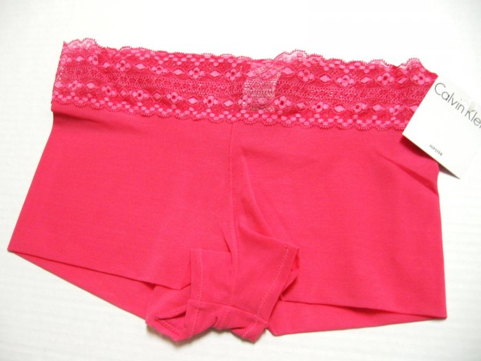 A0509 CALVIN KLEIN PINK MESH MODERN HIPSTER WITH LACE D3173, SIZE MEDIUM