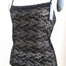 A0546  NATORI Underneath Stretch Lace Camisole, 142006, BLACK, Size=M
