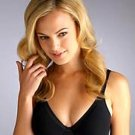 X0121 WARNER'S PLUSHLINE WITH SATIN UW BRA 1500 BLACK SIZE 38B