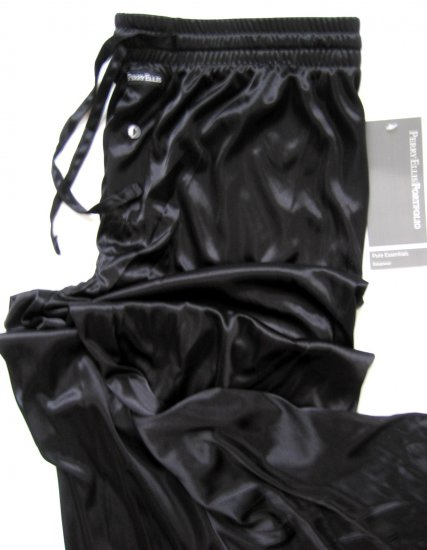 A368 Perry Ellis Pure Essentials Semi-Sheer Lounge Pant 804717 BLACK, SIZE LARGE