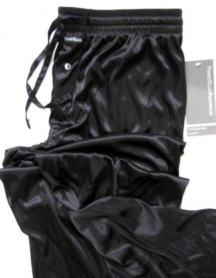 A368 Perry Ellis Pure Essentials Semi-Sheer Lounge Pant 804717 BLACK, SIZE MEDIUM