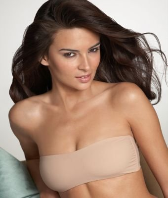 A0084 Calvin Klein Perfect Fit Solution Convertible Bandeau D3125, NUDE SIZE LARGE