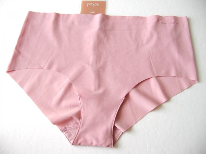 A0256 Calvin Klein Naked Unfinished Edge Hipster F2637 Berry SIZE MEDIUM