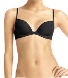 A0235 Calvin Klein Seduction Emotion Lace Sleek Cup Plunge W/Lift Bra F2862DS BLACK SIZE 36B