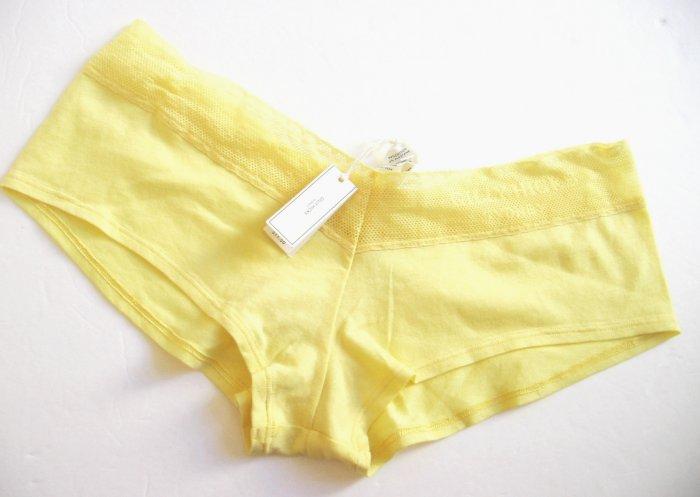 A129SH Abercrombie Gilly Hicks Sydney Lace Logo Cotton Short LEMON L