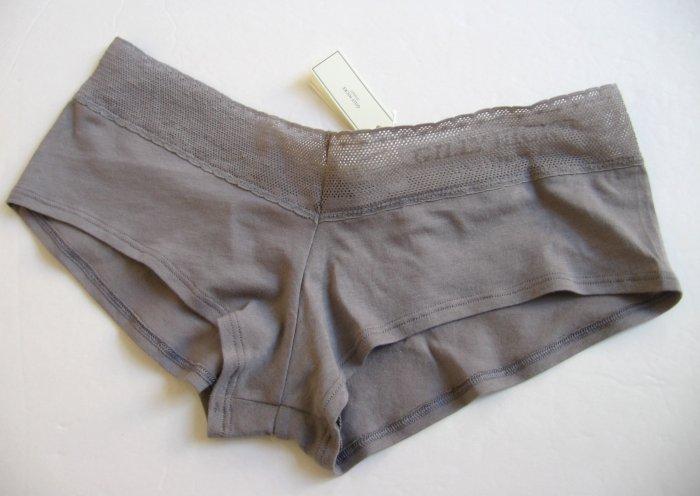 A129SH Abercrombie Gilly Hicks Sydney Lace Logo Cotton Short  GRAY XS