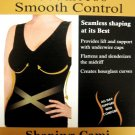 A0581 Instant Shaping Seamless Smooth Control Cami BLACK  SIZE MEDIUM