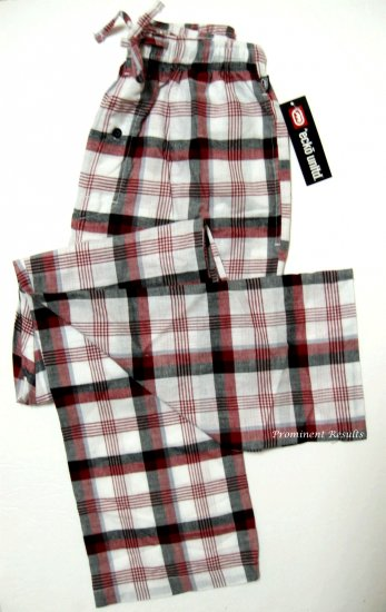 A340-3 ecko unltd Woven Plaid Lounge Pant EK09P3 Red/White SIZE MEDIUM