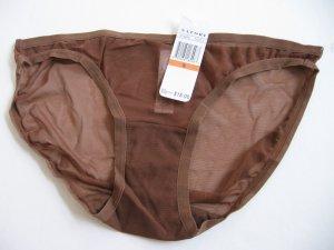 A232B NATORI White Label Soft Sheer Mesh String Bikini 151005D COCOA SIZE = SMALL