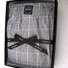A0125 IKE BEHAR Men's Black/White Plaid Woven Boxer SIZE MEDIUM (32-34)