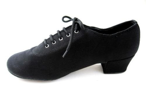SPW02 Ruche LADIES PRACTICE SHOES BLACK SATIN 6.5 - 8.5