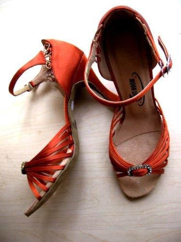 "Z002 Moonlight Ladies Satin Rhinestone Dance Shoes 3"""