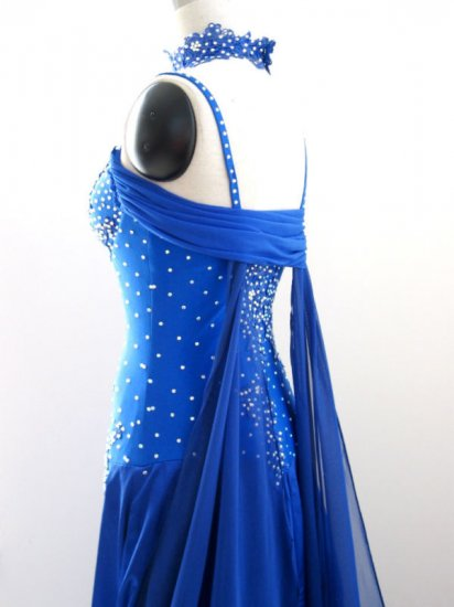 SD005 RUCHE Royal Blue Forget-Me-Not Standard Dress S/M