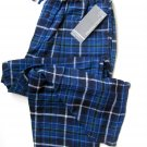 A0027 PERRY ELLIS Men's Drawing String Waistband Flannel Lounge Pant 862521 Blue, SIZE LARGE