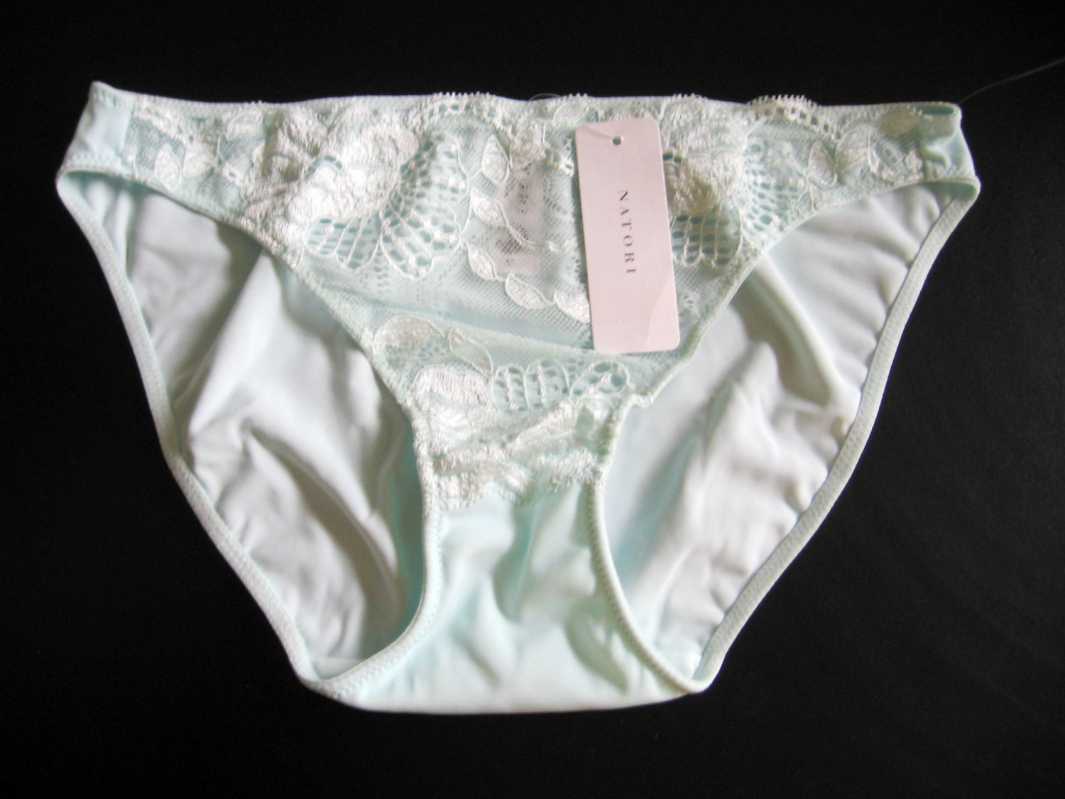 A469 Natori Underneath White Label Zen Floral Embroidered Lace Bikini 153120, SIZE LARGE