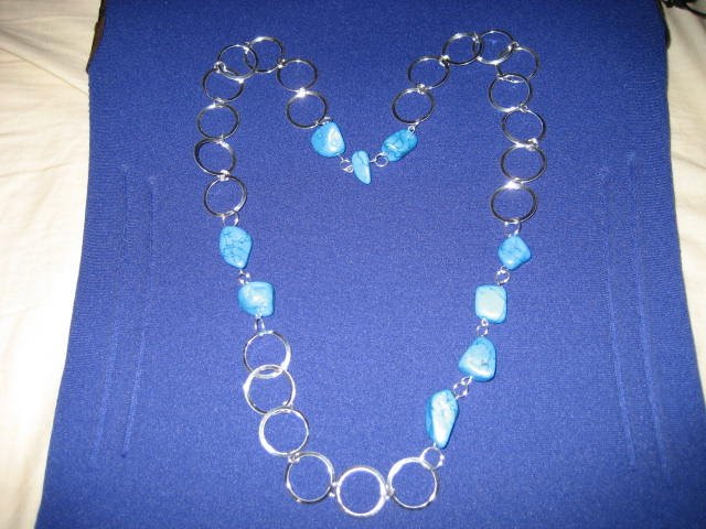 2-3-4 Blue Stone Necklace