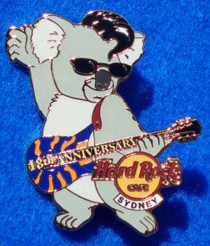 HARD ROCK CAFE SYDNEY 18TH ANNIVERSARY KOALA PIN