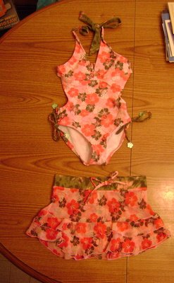 NEW GIRLS JUSTICE LIMITED TOO SWIMSUIT AND SKIRT SIZE 7