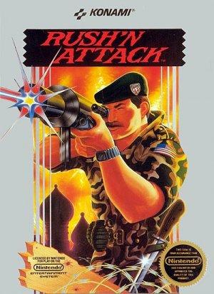 RUSH N ATTACK Nintendo NES Game * free shipping *