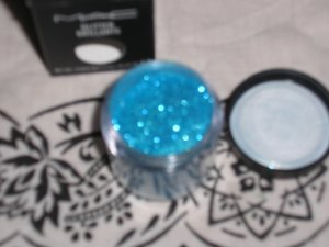 mac glitter brillants REFLECTS AQUATIC SO PRETTY SAMPLE SZ