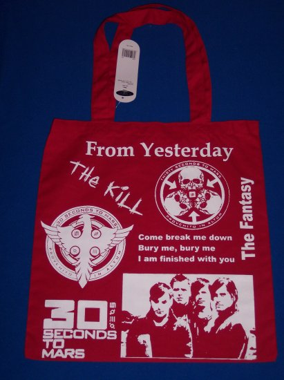 DIY 30 Seconds To Mars Canvas Tote - Jared Leto - EMO