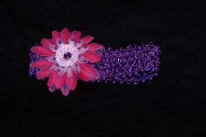 Pink/ Purple Daisy Headband