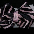 Zebra Bow Nylon Headband