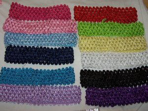 """1.5"""" Crochet Headbands"""