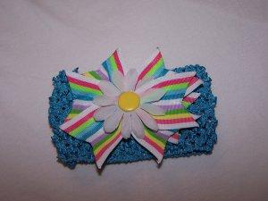 Multi-Colored Stripe Bow